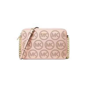 MICHAEL KORS leather logo crossbody in soft pink